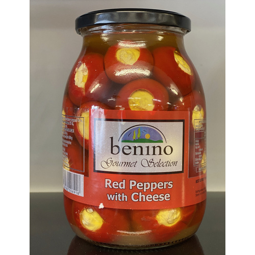 Benino Red Peppers With Cheese 960g